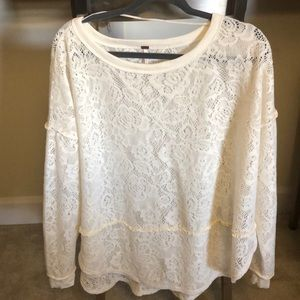 White Free People Sweater